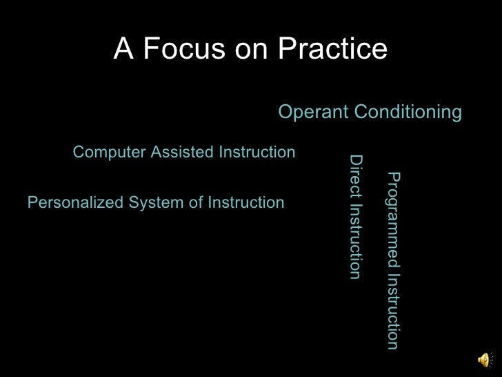 theory is computer-assisted instruction based