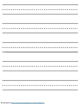 printable kindergarten writing paper pdf