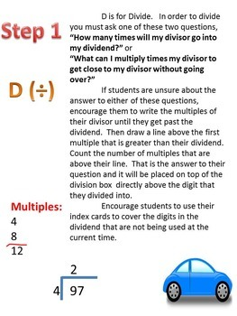 step by step division manual
