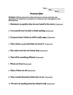 reflexive and intensive pronouns worksheet 6th grade pdf