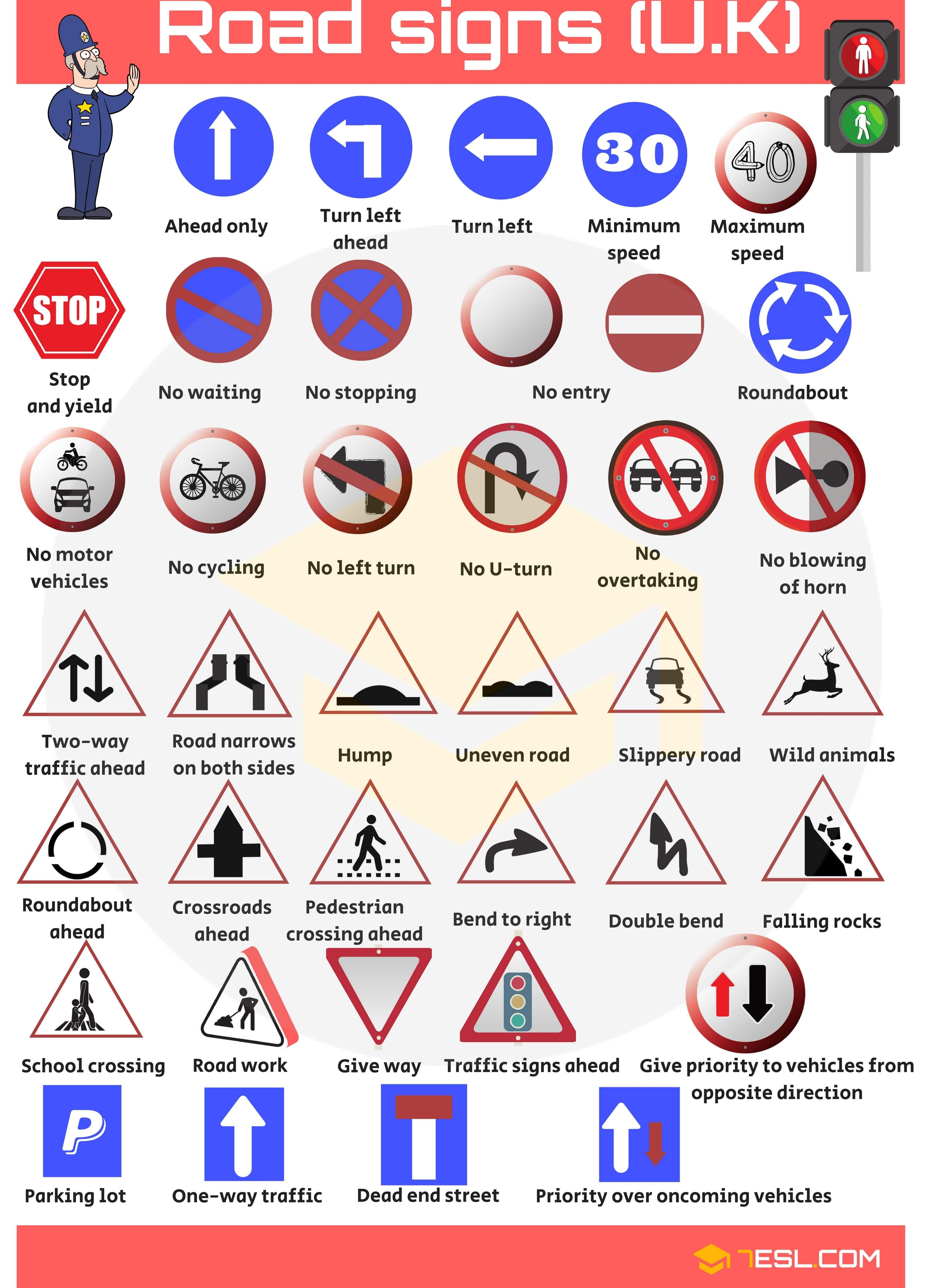 road signs and meanings pdf