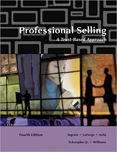 professional selling a trust-based approach 4th edition pdf