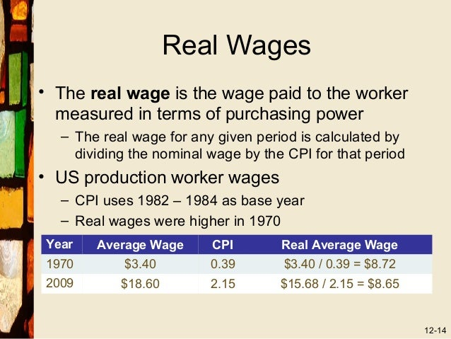using cpi to calculate real terms