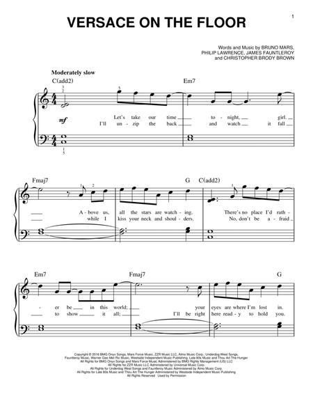 versace on the floor music sheet pdf