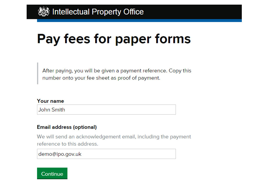 pay your fees online paper application