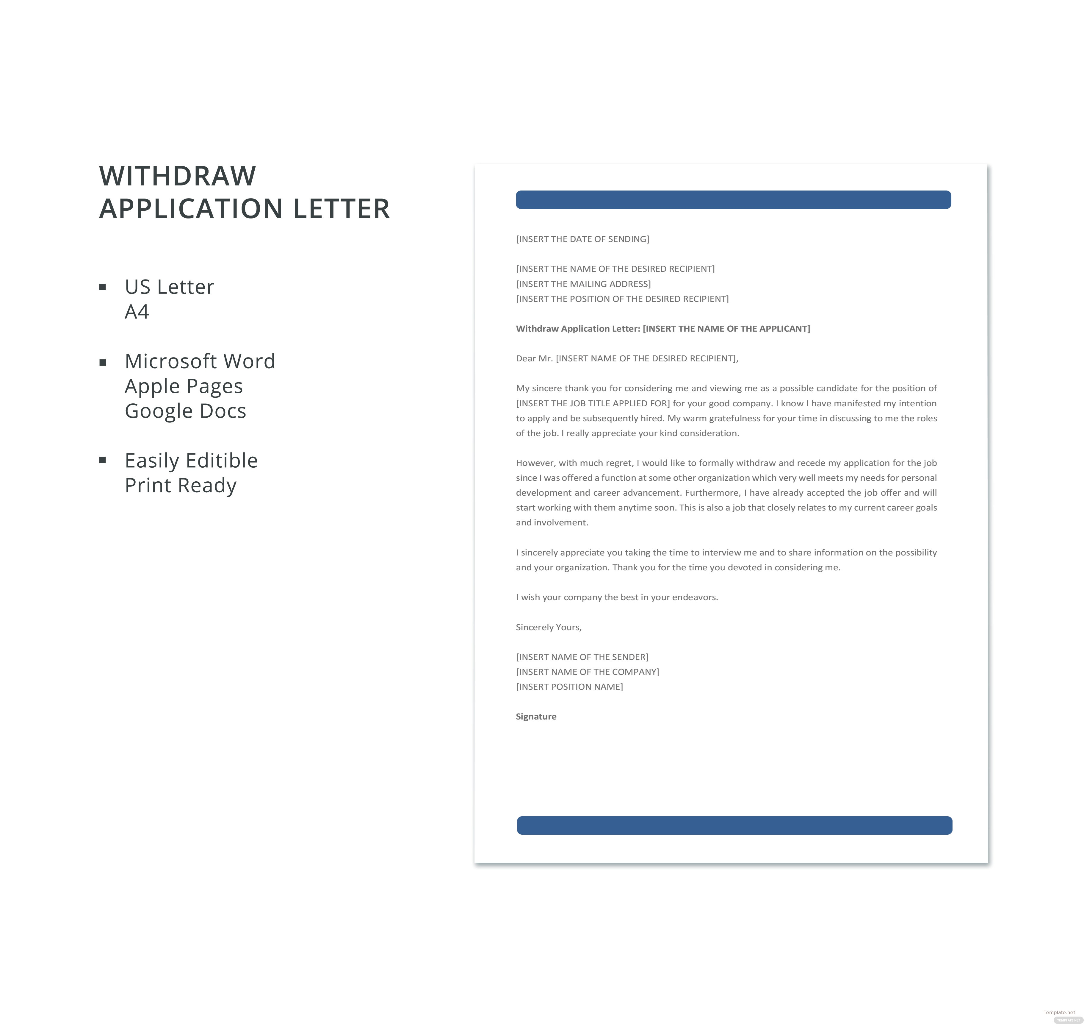 when to withdraw job application