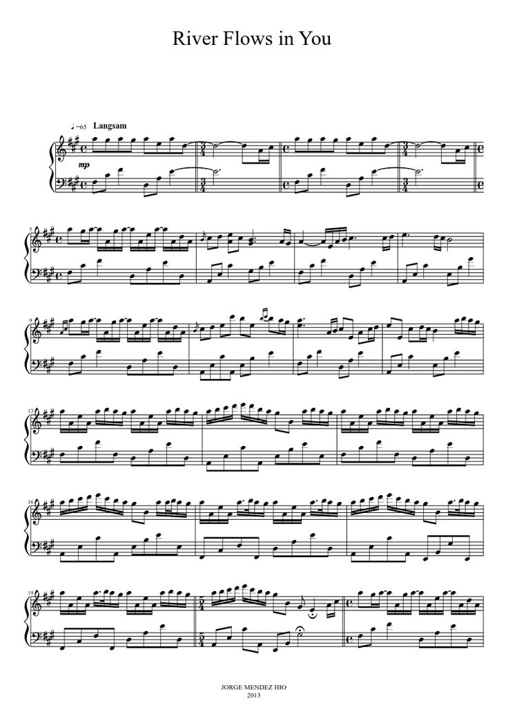 yiruma river flows in you pdf