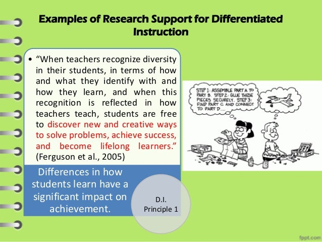 respectful tasks in differentiated instruction