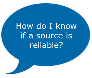 what are the guidelines to check reliability of web sources