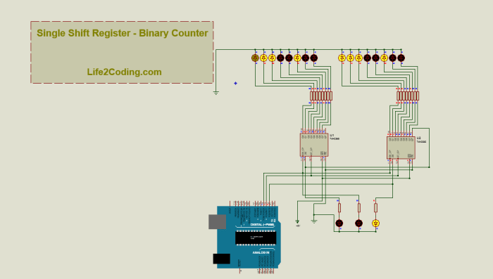 shift register application without microcontroller