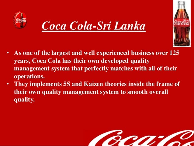 total quality management of coca cola pdf