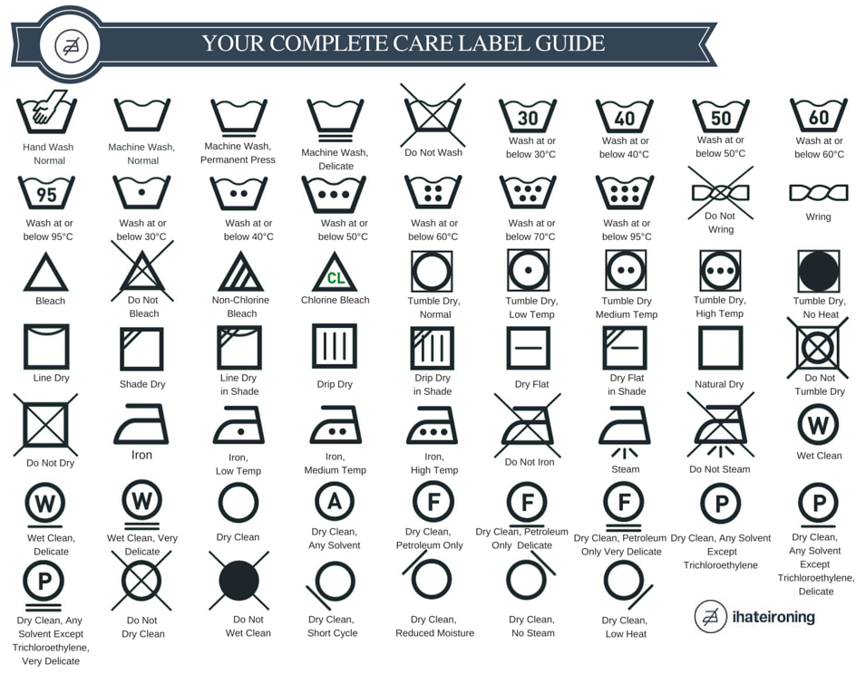 wash and care instructions images