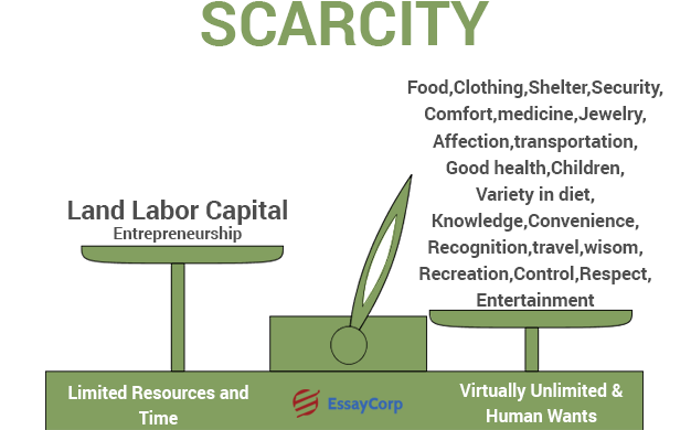 what does scarcity mean in terms of economics